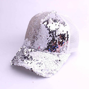 Image 2 - חדש נשים גבירותיי אופנה מקרית שיק בייסבול כובע רשת Bun מוצק נצנצים בייסבול כובע ספורט כובעים