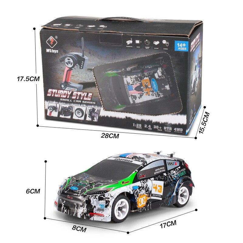 WLtoys K989 четырехколесный привод с дистанционным управлением, автомобильное зарядное устройство, электрические игрушки, мини-гоночный автомобиль 1:28, высокоскоростной внедорожник 3