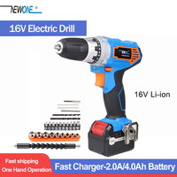 Newone 16V Cordless Drill Lithium-ion Electric Drill Mini Wireless Power Driver with 20+1 torque setting