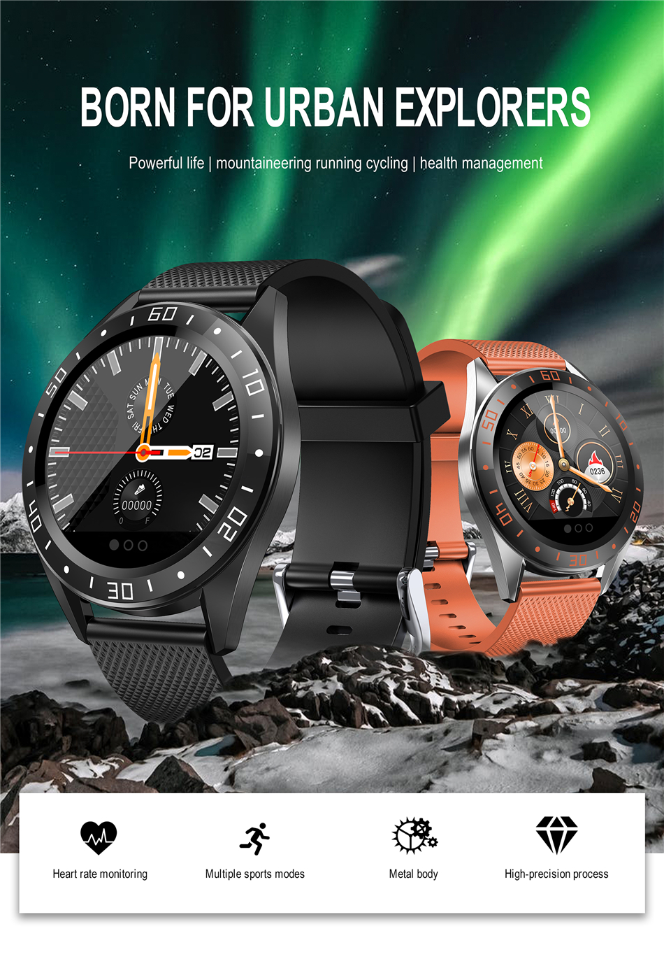 Montre intelligente IP68, montre de Fitness