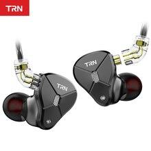 TRN BA5 5BA pilote Untis métal dans loreille écouteur IEM HIFI moniteur en cours dexécution Sport casque résolution de scène détachable 2Pin V90/ZSX