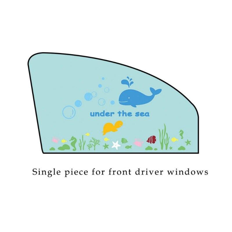 Otomobiller ve Motosikletler'ten Yan Pencere Şemsiyeleri'de Araba pencere güneş gölge balina karikatür desen koruyun bebek bebekler güneş parlama UV ışınları title=