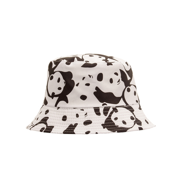 Cow hat two-faced fisherman man popular logo basin Korean spring/summer fashion versatile sun male panda