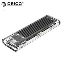 ORICO TCM2F-C3 M2 SSD Fall NGFF M.2 zu USB 3,1 Typ C 5Gbps Transparent Festplatte Gehäuse Für m.2 NGFF SATA B Schlüssel SSD Disk Box
