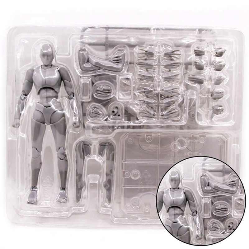 Modèle de jouet de figurine articulée de Chan de corps mobile modèle de dessin de croquis de 15CM Mannequin de tirage féminin masculin pour SHF