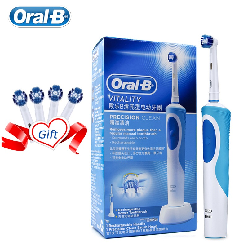 Oral B Electric Toothbrush 2D Rotary Deep Clean Teeth Waterproof Rechargeable Every Toothbrush With 4 Gift Refill image