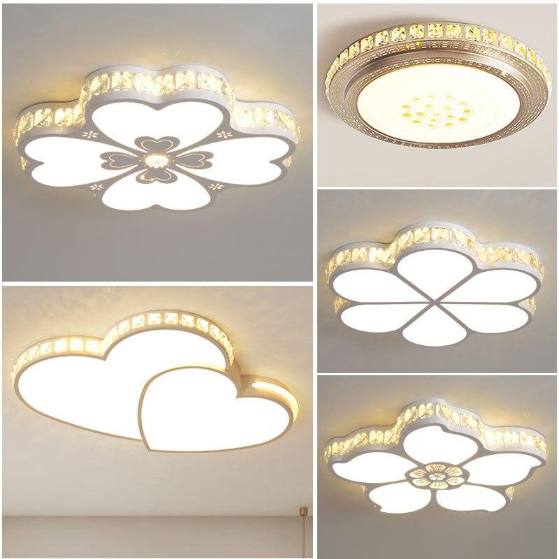 Светодиодная потолочная лампа для спальни, современный простой Романтический креативный светильник в виде теплого цветка для детской комнаты, свадьбы