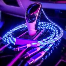 Kabel do telefonu USB ładowarka samochodowa telefony komórkowe kabel samochodowy linia danych Streamer kabel danych szybkie ładowanie 360 stopni magnetyczny