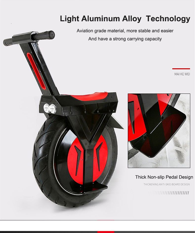 New Electric Unicycle Scooter 500W motorcycle hoverboard one wheel scooter skateboard monowheel Electric Bicycle big wheel (4)