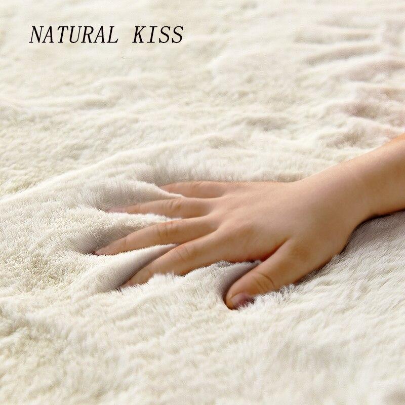 Nordic fofo pele do falso tapete microfibra imitação de cabelo coelho centro sala estar/quarto tapete 7 cores como branco vermelho