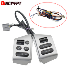Car Cruise Control Steering Wheel Buttons Switch with wire Silver for Nissan Sylphy 05 17 Tiida 05 08 Livina 07 10
