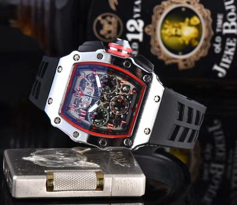 Top Brand RM 1: 1 Same Watchs 2020 Men's Watches Luxury Richard Wristwacth Relogio Masculino Quartz Mechanical Water Resistant