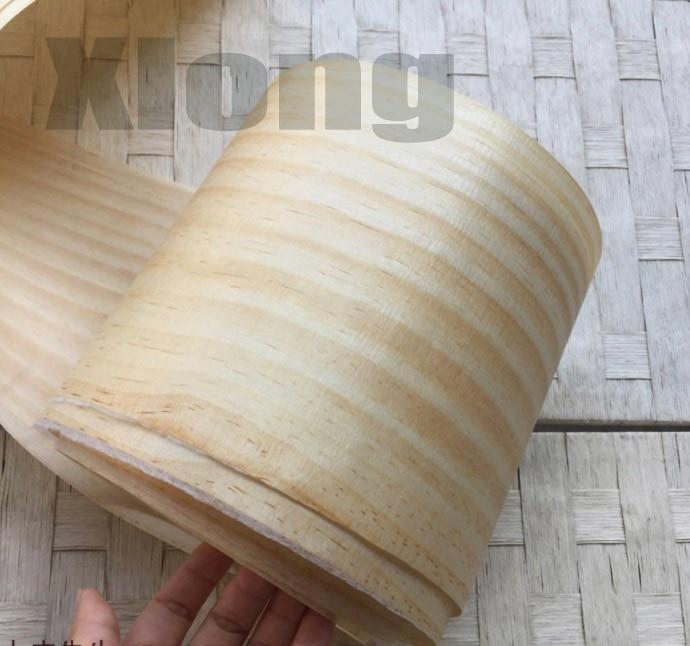 L:2.5Meters. Width:15cm Straight-grained New Zealand Pine Bark Veneer Natural Log Sliced