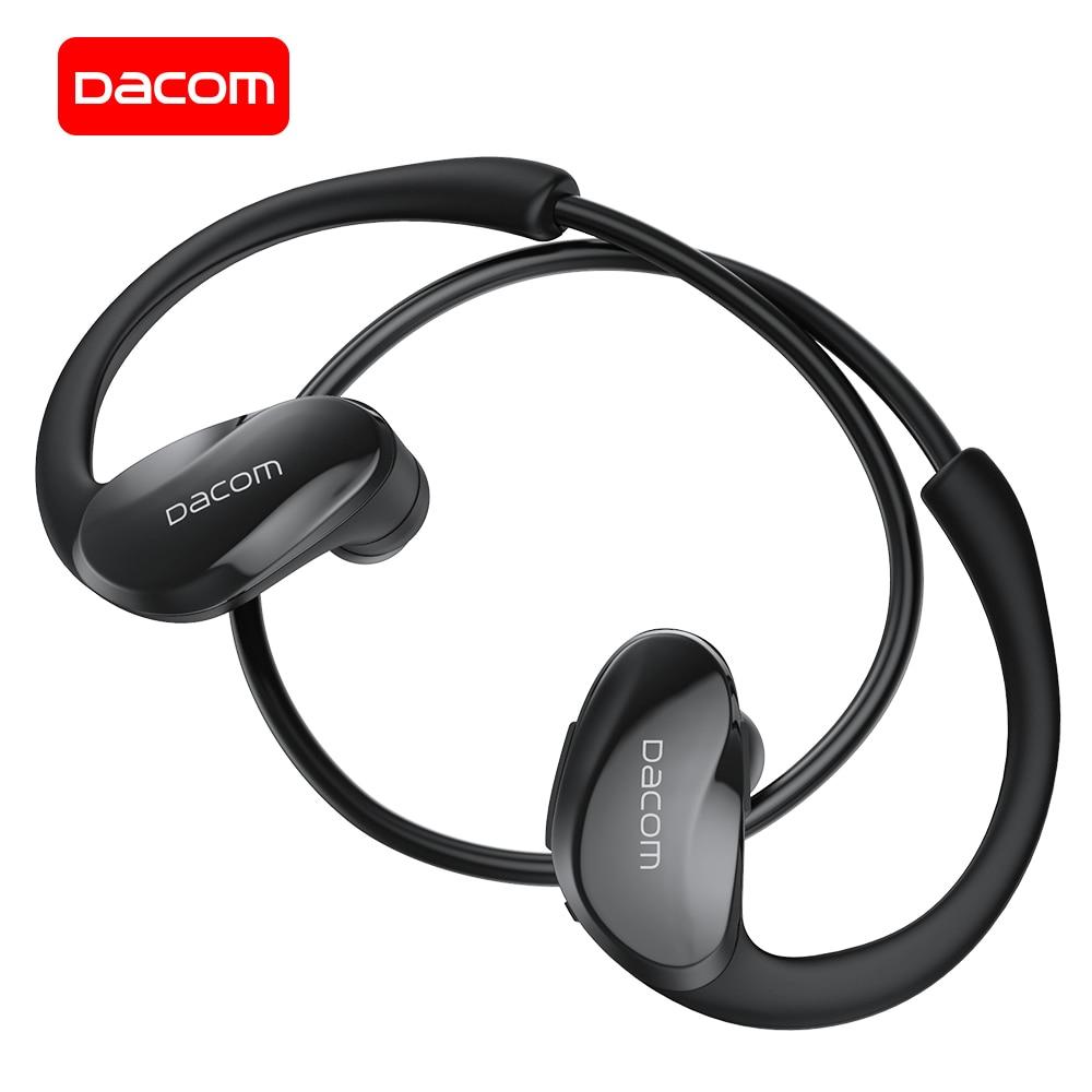 Спортивные Bluetooth-наушники DACOM ATHLETE 5,0, беспроводная гарнитура для бега, 12 часов воспроизведения, стереонаушники для iPhone, Samsung