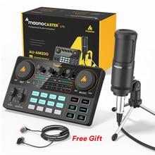 MAONOCASTER-Mezclador de micrófono todo en uno LITE AM200-S1, tarjeta de sonido, interfaz de Audio con condensador, micrófono y auriculares para teléfono y PC