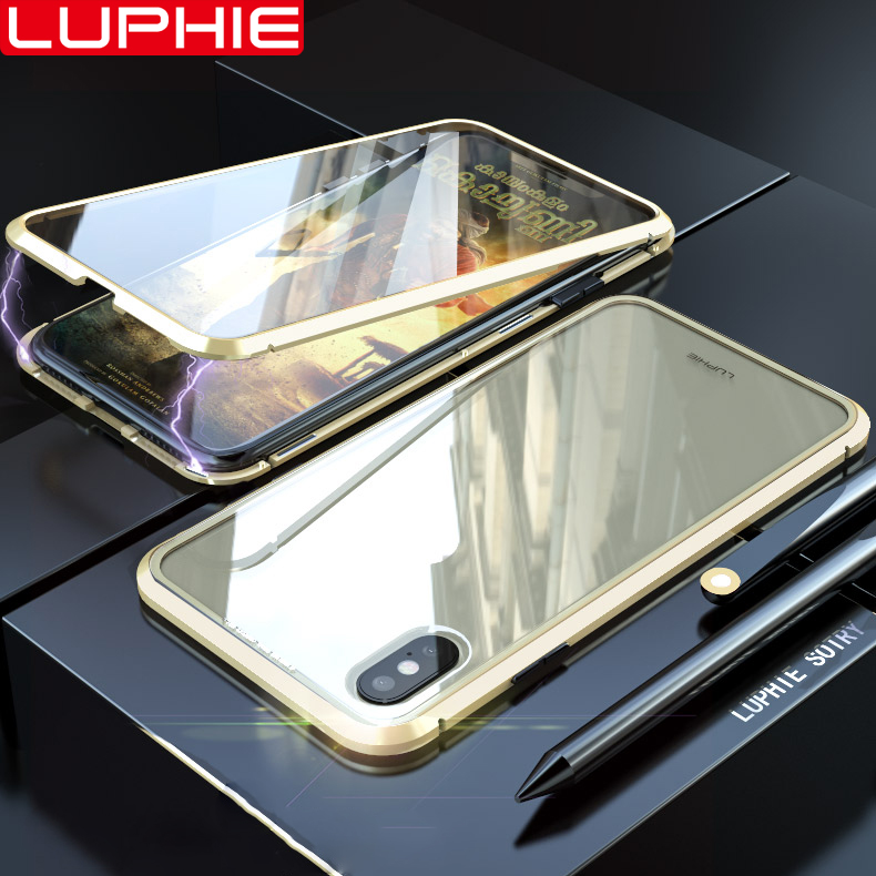 Front and Back Tempered Glass for iPhone X/XS/XR/XS MAX 360 Full Protection Magnetic Adsorption Case Cover Full Screen Coverage|Flip Cases| |  - title=