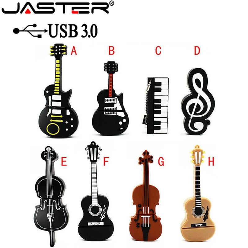 JASTER USB 3.0 Music Note Pen Drive Musical Instrument Usb Flash Drive Pendrive 4GB 16GB 32GB 64GB Cartoon Memory Stick U Disk