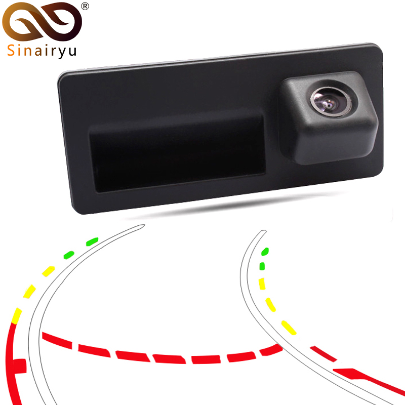 Sinairyu CCD HD Car Trunk Handle Rear View <font><b>Camera</b></font> for <font><b>Audi</b></font> A4 A5 S5 <font><b>Q3</b></font> Q5 for VW Golf Passat Tiguan Jetta Sharan Touareg B6 B7 image