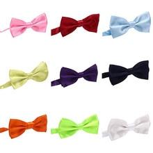 Детский галстук-бабочка, классический детский галстук-бабочка, галстуки для мальчиков и девочек, модные аксессуары для малышей, однотонный галстук зеленого, красного, черного, синего цвета