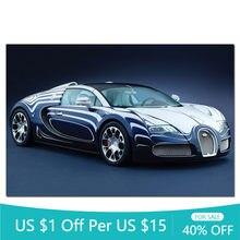 Mur photo Bugatti Veyron Grand Sport L ou Blanc Super voiture toile peinture affiches et impressions Art moderne décoration de la maison