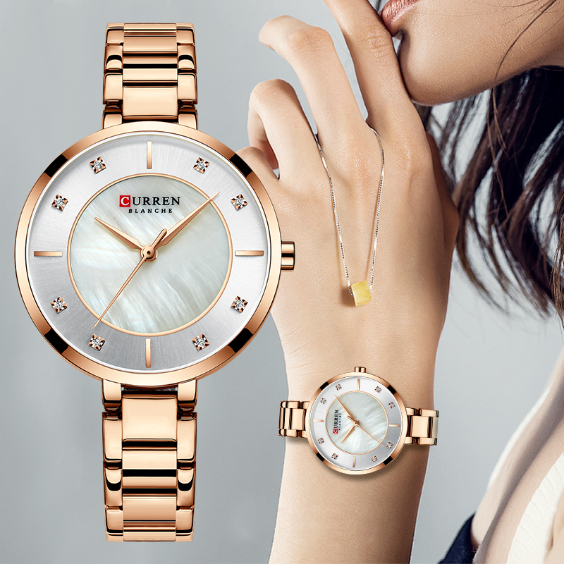 Woman Watches Rose Curren Top Brand Luxury Watch Women Quartz Waterproof Women's Wristwatch Ladies Girls Fashion Watches Clock