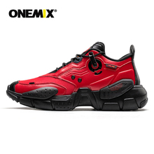 ONEMIX Nam Sneakers Công Nghệ Da Phong Cách Giảm Chấn Thoải Mái Man Đỏ Bộ Thể Nữ Nền Tảng Retro Bố Giày