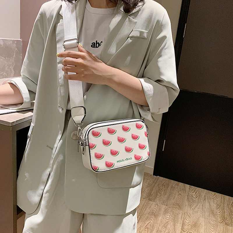Obst Avocado Handtaschen Kleine Box Form Schulter Taschen Erdbeere Crossbody Wassermelone Umhängetasche Mode Klappe Für Mädchen