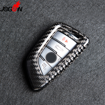 Real Carbon Fiber Remote Key Fob Case Shell Cover For BMW 7 Series G11 G12 2016 2017