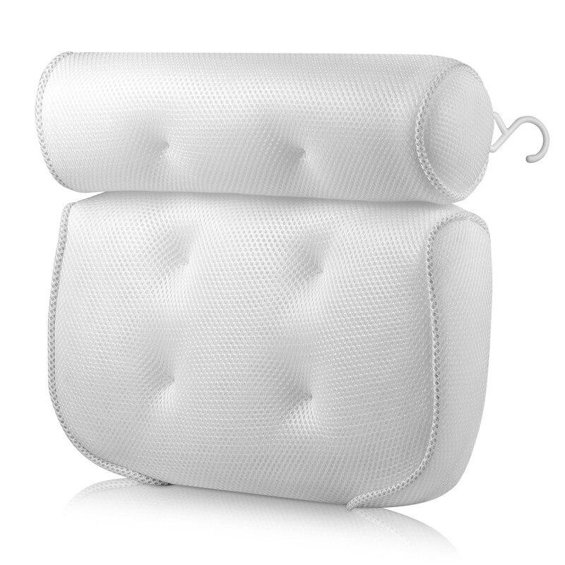 Spa Non-Slip Bath Pillow Cushioned Bath Tub Spa Pillow Bathtub Head Rest Pillow With Suction Cups For Neck Back Bathroom Supply 6