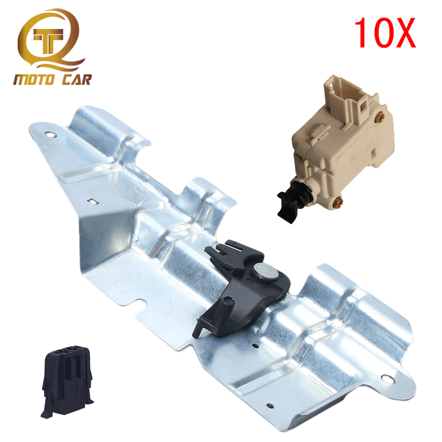 3B5827061B  1J5827425C 191972702 Auto Bootlid Trunk Latch Bracket Set 3B0959781C Lock Actuator Plug Connector For VW Golf