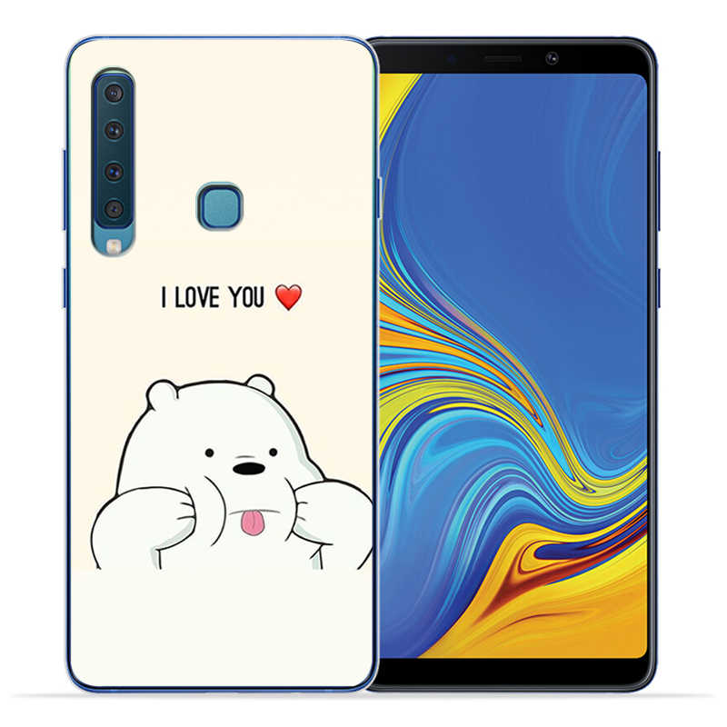שלושה חמוד דובי פנדה מקרי טלפון מקרה לסמסונג גלקסי A5 2016 A6 A7 A8 בתוספת A9 2018 A10 A20 a30 A40 A50 A70