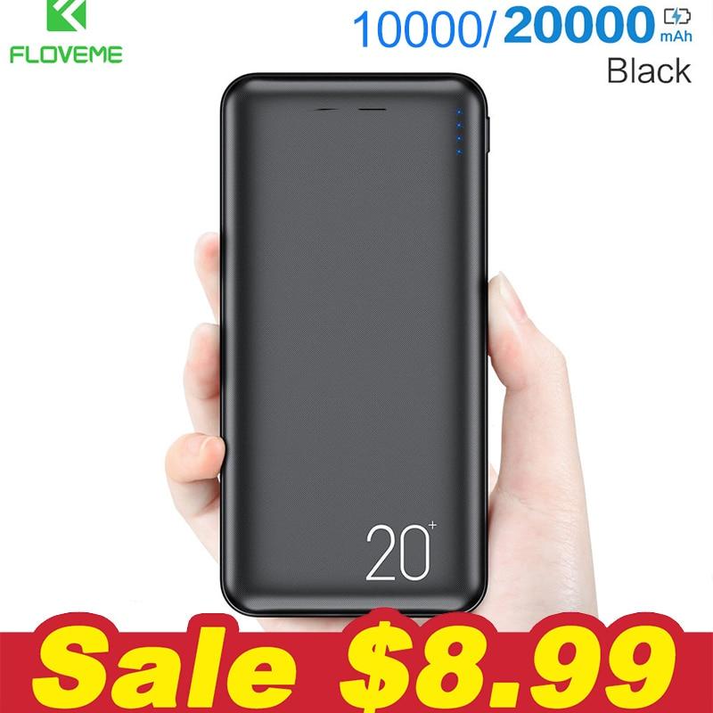 FLOVEME Power-Bank Xiaomi Mi Portable 10000/20000mah Dual-Usb-Port For 9 Pover External-Battery