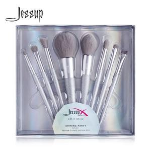 Image 1 - Jessup escova de maquiagem beleza brilhante festa kits compõem escovas pó blush mistura contorno sombra lápis