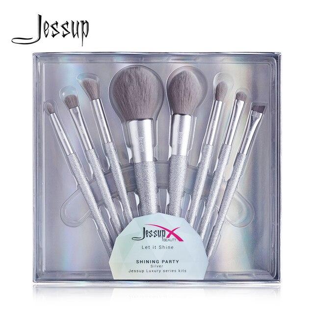 Jessup escova de maquiagem beleza brilhante festa kits compõem escovas pó blush mistura contorno sombra lápis