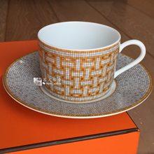 Tasses à café et soucoupes en porcelaine, vaisselle classique européenne, assiettes à café, service à thé de l'après-midi, cuisine de maison avec boîte-cadeau