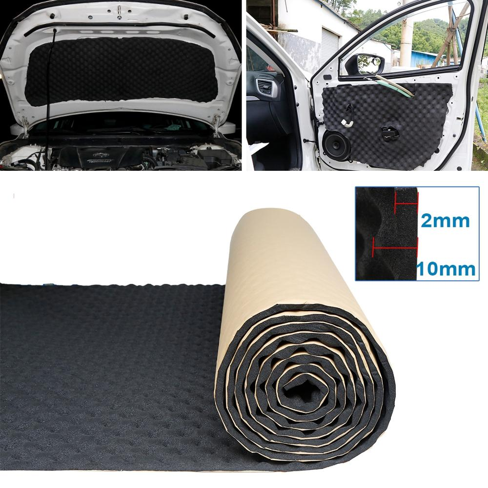 UXCELL 8Sizes Studio Sound Acoustic Absorption Car Heatproof Wave Foam Deadener Car Soundproof Cotton Insulation
