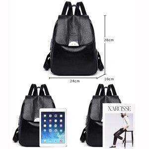 Image 5 - Mochila Feminina  Back Pack Soft Leather Women Backpack High Quality Bagpack School Bags for Teenage Girls 2019 Sac A Dos Femme