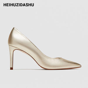 Ladies Shoes Stiletto Women Pumps Pointed-Toe High-Heels Elegant Solid-Color Chic