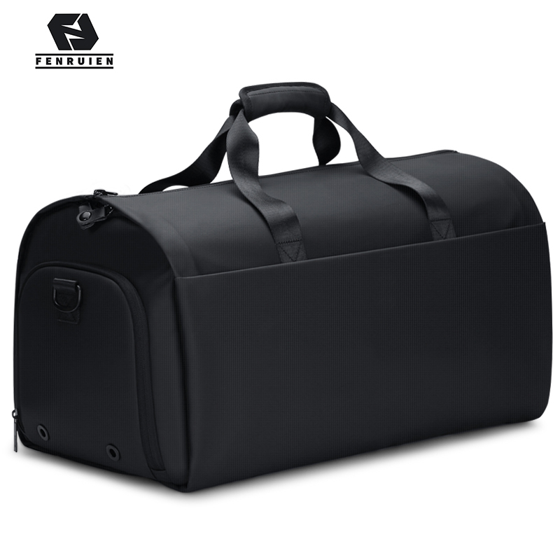 Fenruien New Men Multi-Function Large Capacity Travel Bag Suit Luggage Bag 17 <font><b>Inch</b></font> <font><b>Laptop</b></font> Waterproof Tote Bag With Shoe Pouch image