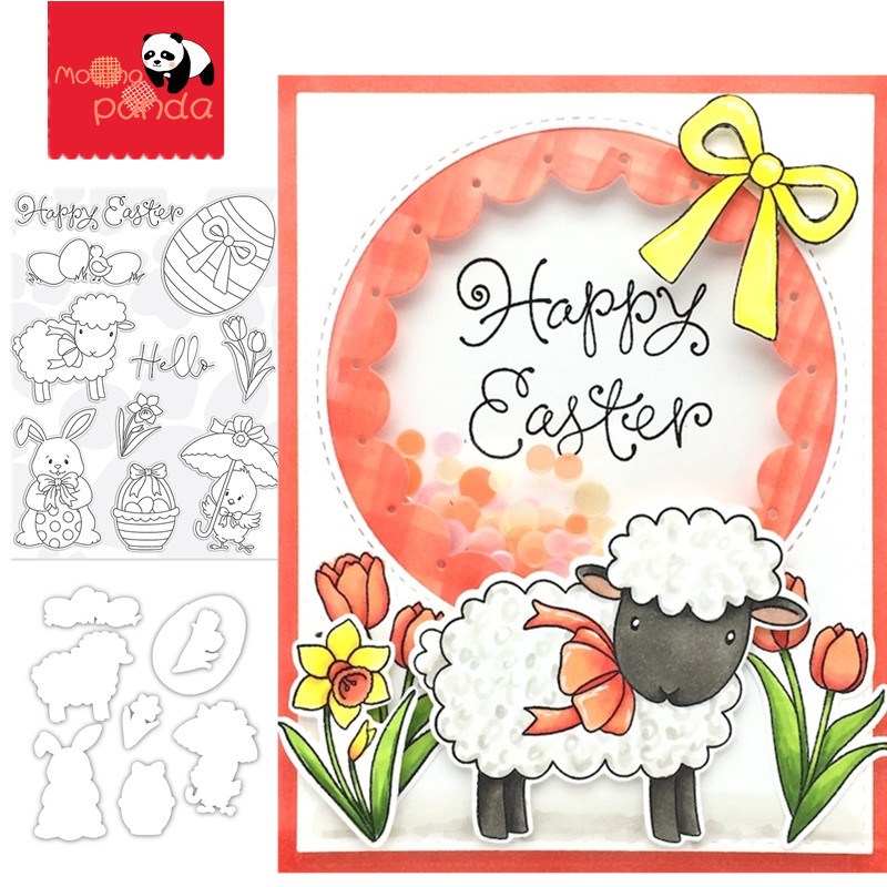 HELLO EASTER Metal Cutting Dies And Stamps Stencils For DIY Scrapbooking Decorative Embossing Handcraft Die Cutting Template