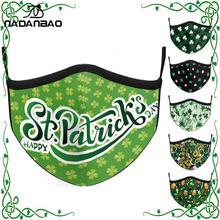 Mouth-Mask Irish Patrick's-Day-Masks Adjustable Adult Print Festival NADANBAO St.