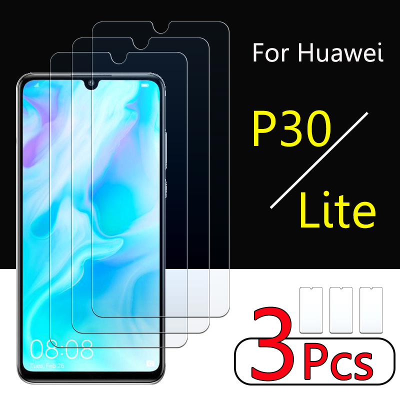 Protective Glass On For Huawei P30 Lite Light Tempered Glas Huaweii Hauwei P30lite P30light 30lite P 30 Screen Protector Film 9h