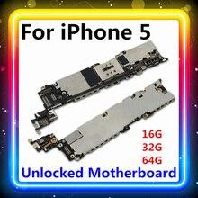 Para iphone 5 placa mãe substituído para iphone 5 usado teste placa mãe com chips mainboard ios atualização placa lógica