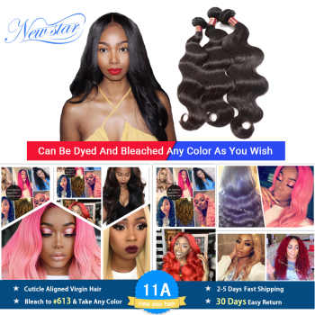 Peruvian Virgin Body Wave Hair Extension 3 Bundles Thick Human Hair Waving Unprocessed Cuticle Aligned New Star Hair Weave - DISCOUNT ITEM  46 OFF Hair Extensions & Wigs