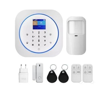 DIY Smart Life APP Home Security WIFI GSM Press Panel Burglar Alarm System