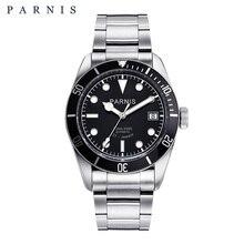 Parnis 41 millimetri Automatic Mens Watch In Acciaio Inossidabile Luminoso 21 Jewle Degli Uomini Meccanici Orologi Miyota montre homme luxe grande marque