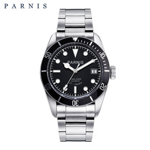 Parnis 41mm Automatic Mens Watch Stainless Steel Luminous 21 Jewle Men Mechanical Watches Miyota montre homme luxe grande marque