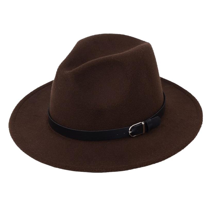 Classic British Fedora Hat Men Women Imitation Woolen Winter Felt Hats Fashion Jazz Hat Chapeau Wholesale 15