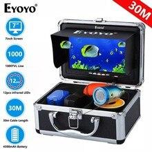 Eyoyo ef07b 30m peixe finder 7 Polegada câmera de pesca subaquática para a pesca 12 pçs infravermelho mais profundo fishfinder para a pesca no gelo inverno