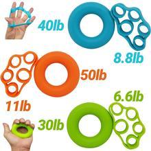 2pcs/set Finger Stretcher Silicone Hand Grip Strengthener Finger Resistance Band